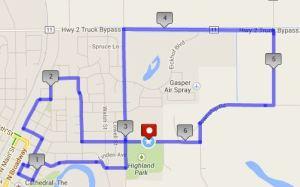 2Pi Run 2014 Map