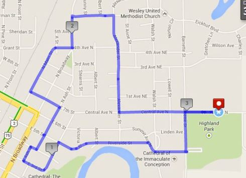 5k route 2014